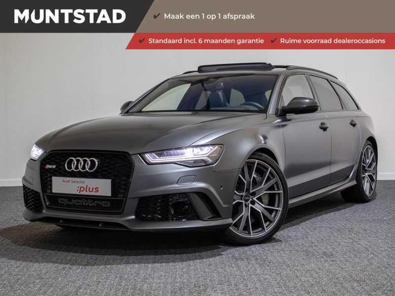 Audi A6 Avant 4.0 TFSI RS6 quattro perfomance | Dynamiekpakket plus | Carbon Optiek | B&O advanced | RS-sportuitlaat | DAB+ | Head-up display | Alcantara Hemel | Pano dak | Nachtzicht | afbeelding 1