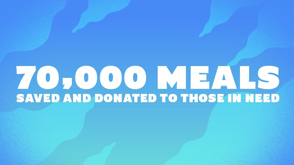 70000 meals saved and donated to those in need