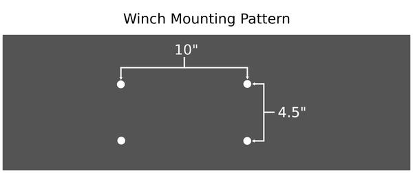 """10""""x4.5"""" winch mounting pattern"""
