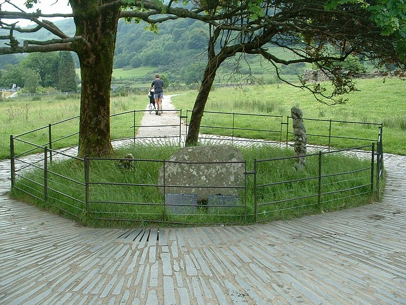 Gelert's grave in Beddgelert, North Wales