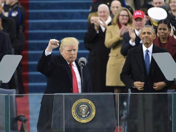 트럼프 대통령  취임식,  미국우선주의  재강조