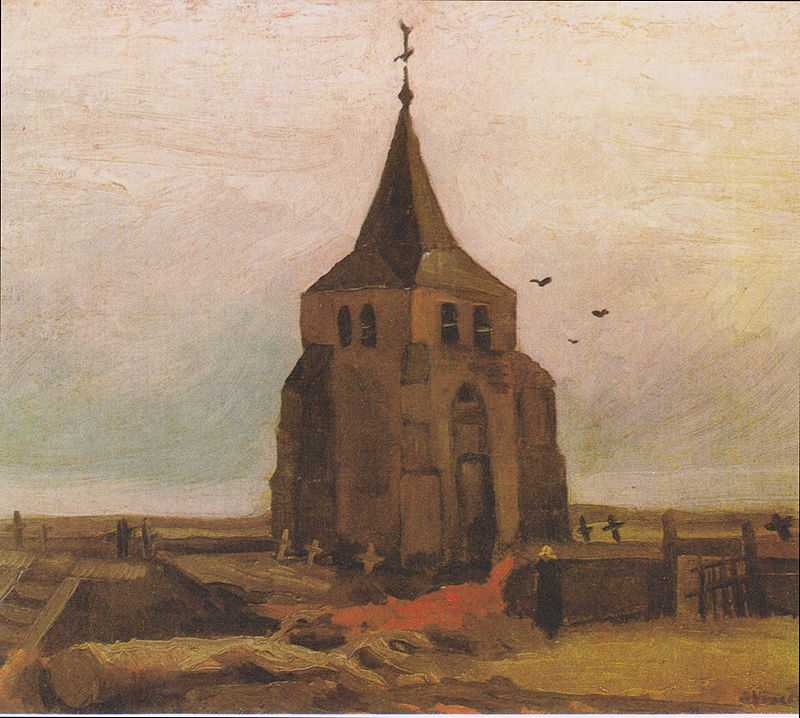 Old Church Tower at Nuenen ('The Peasants' Churchyard) by Van Gogh, 1884, Foundation E.G. Bührle Collection, Zürich