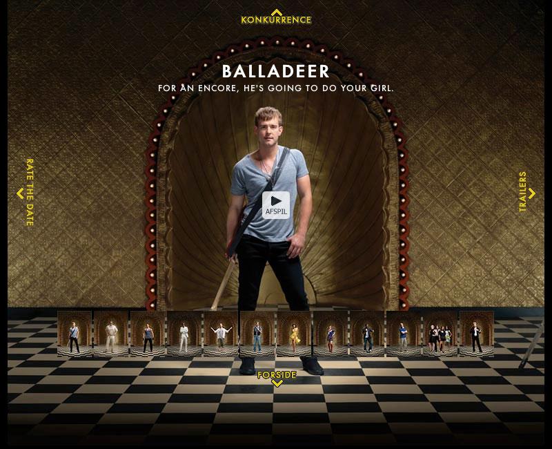 "Screenshot of the Gamekillers website featuring the ""Balladeer"" character"