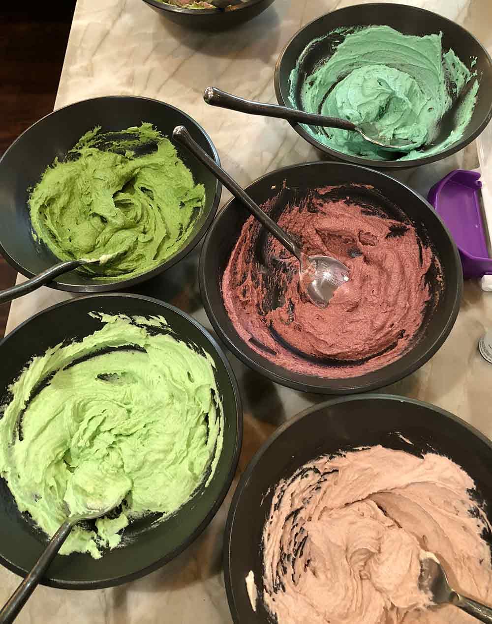 vegan buttercream frosting for making succulent plants