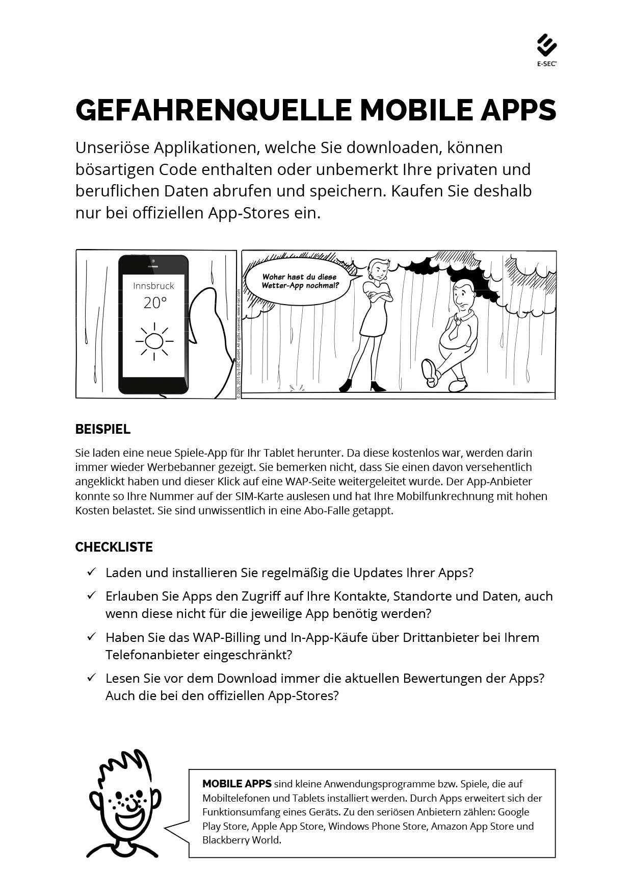 Gefahrenquelle Mobile Apps