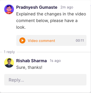 illustration of video comments