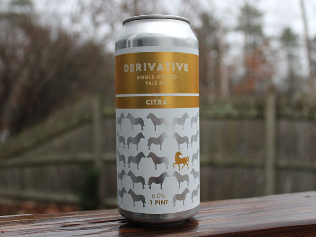 Derivative, a Single-Hopped Pale Ale brewed by Proclamation Ale Company