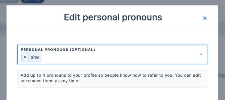 add up to four pronouns to your profile