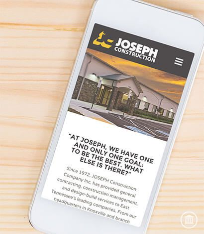 Joseph Construction Mobile Site