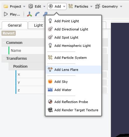 AddLensFlare