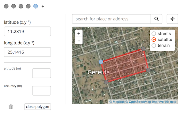 Screenshot of Geo Widgets Sample Form