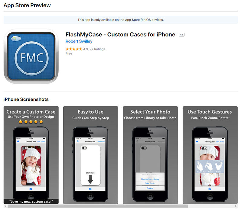 FlashMyCase App Store Preview