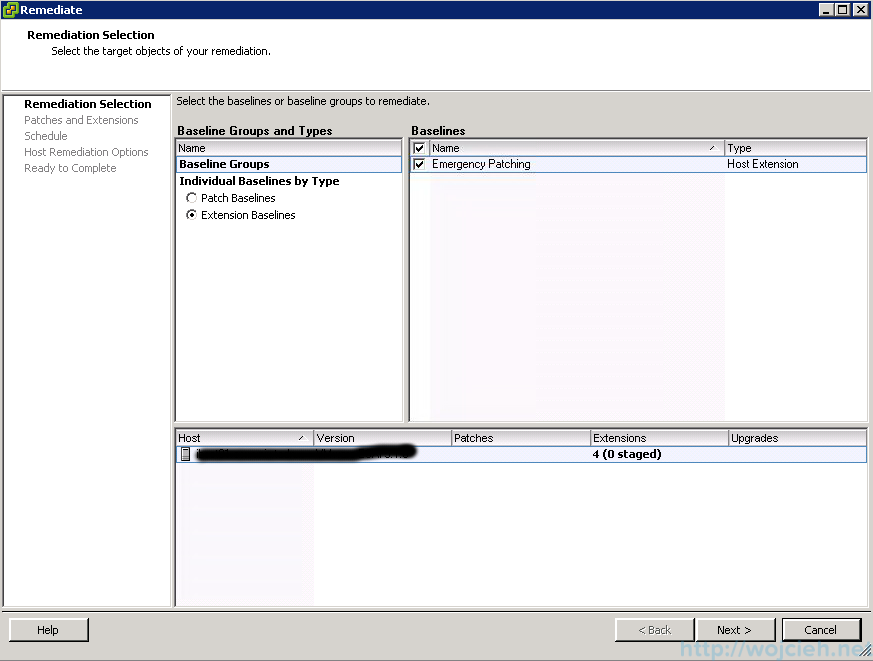 ESXi patching using VMware Update Manager 4