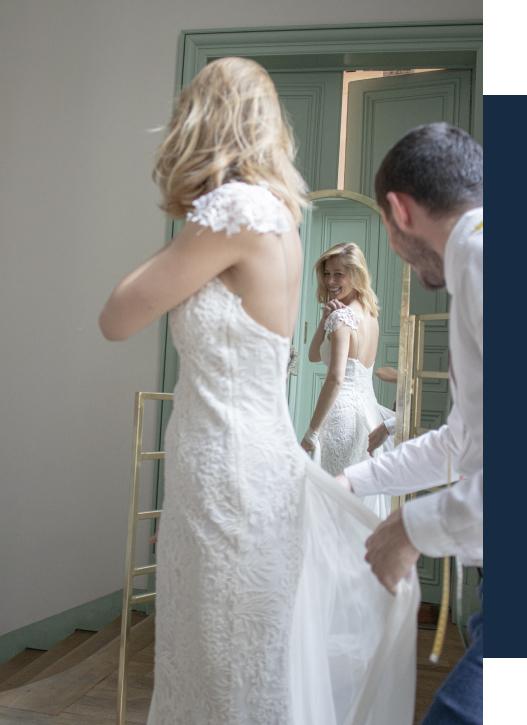 Comment retoucher sa robe de mariée ?