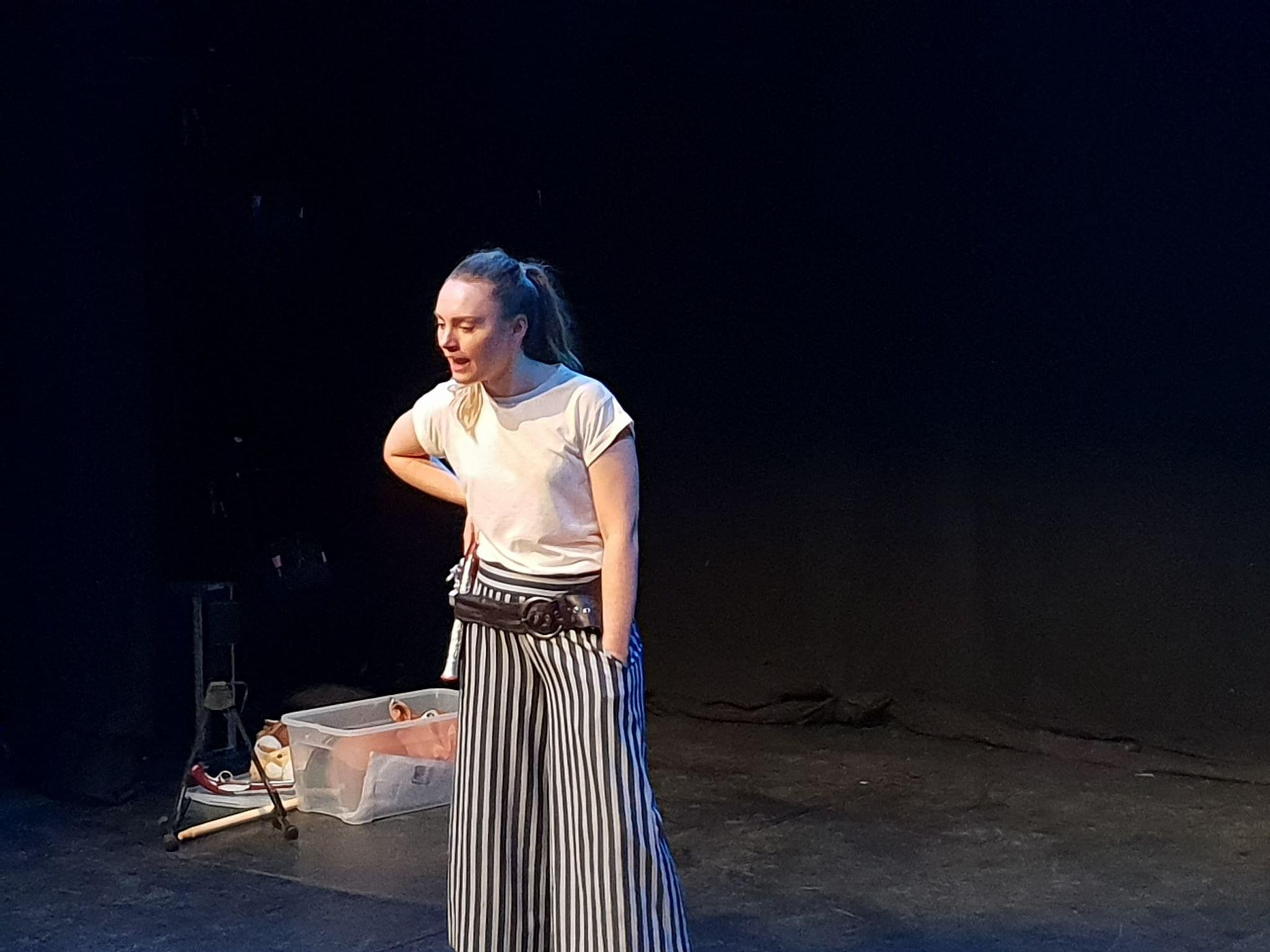 Jasmine Horn, rehearsing for Stand and Deliver