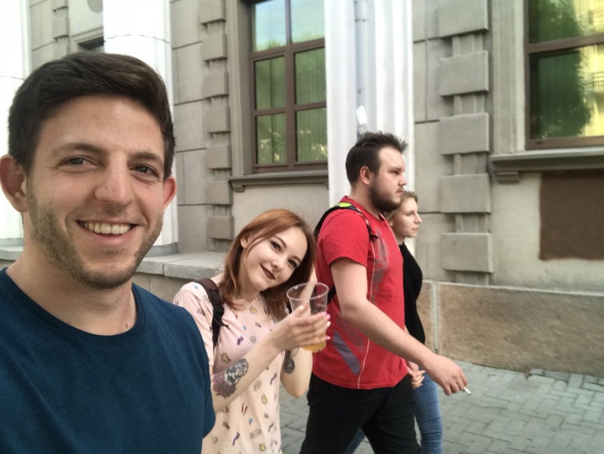 Me, Sasha, and two of Sasha's friends.