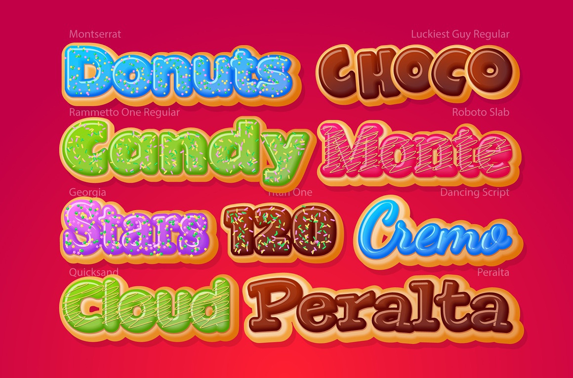 Donuts Adobe Illustrator Graphic style images/donuts_3_examples.jpg