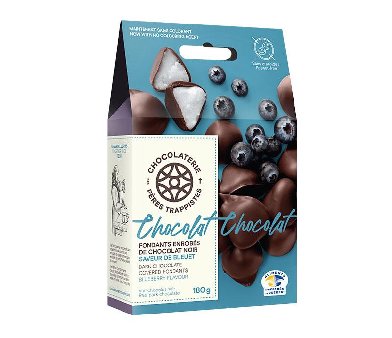Chocolat Fondants enrobés de chocolat noir - Saveur de bleuet