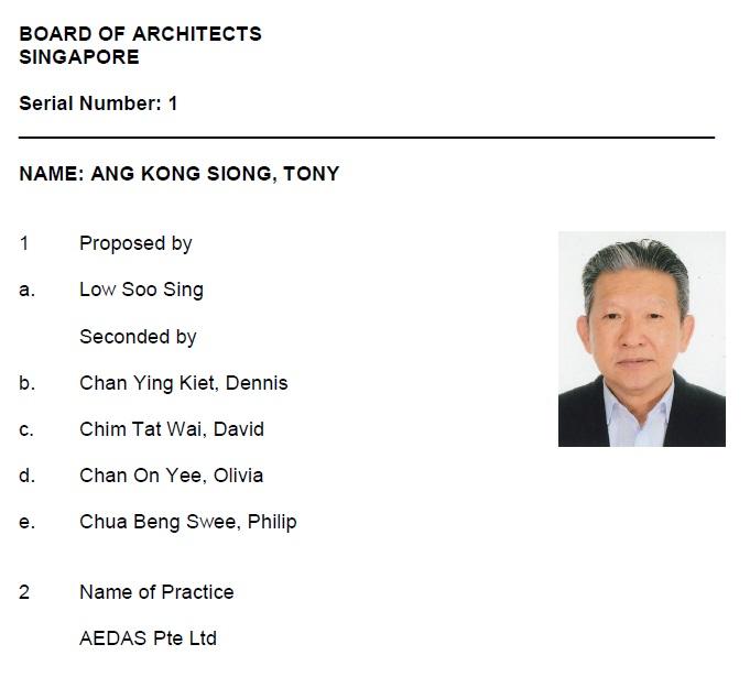 Ang Kong Siong Tony