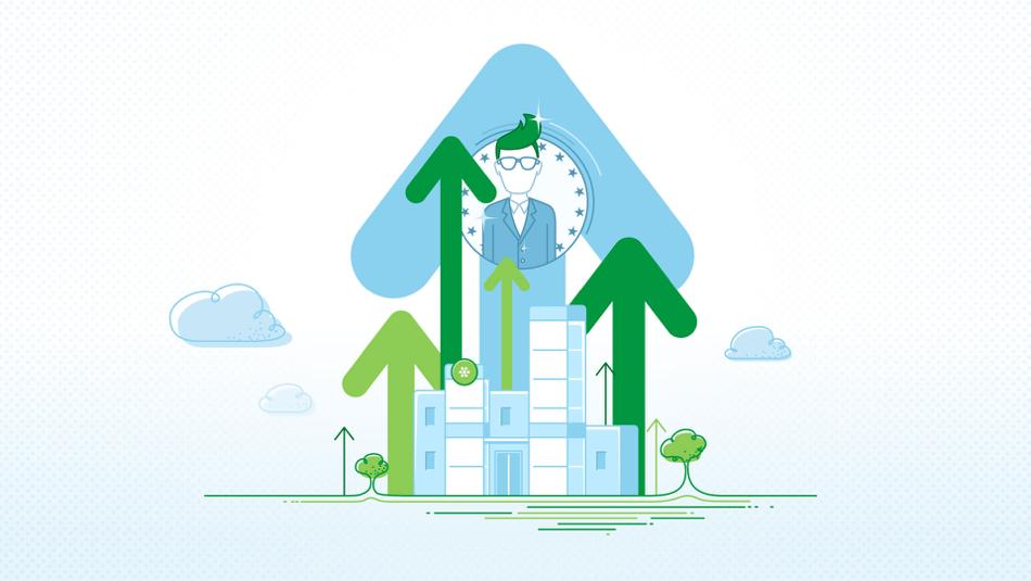 Illustration tirée de la vidéo de motion design pour EnviroEmplois