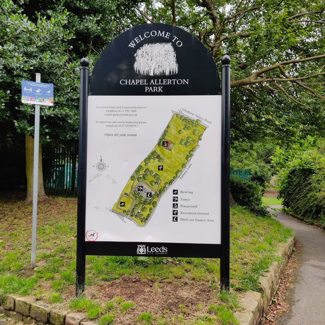 Chapel Allerton Park Sign