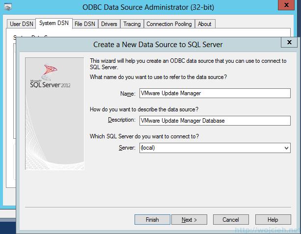 VMware vSphere Update Manager - 32 bit DSN 3