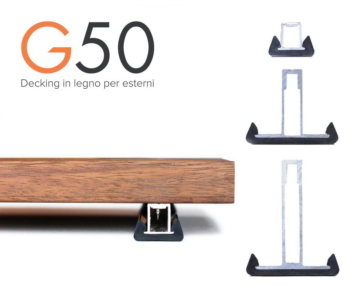 sistema G50 decking in legno brevettato Galimberti