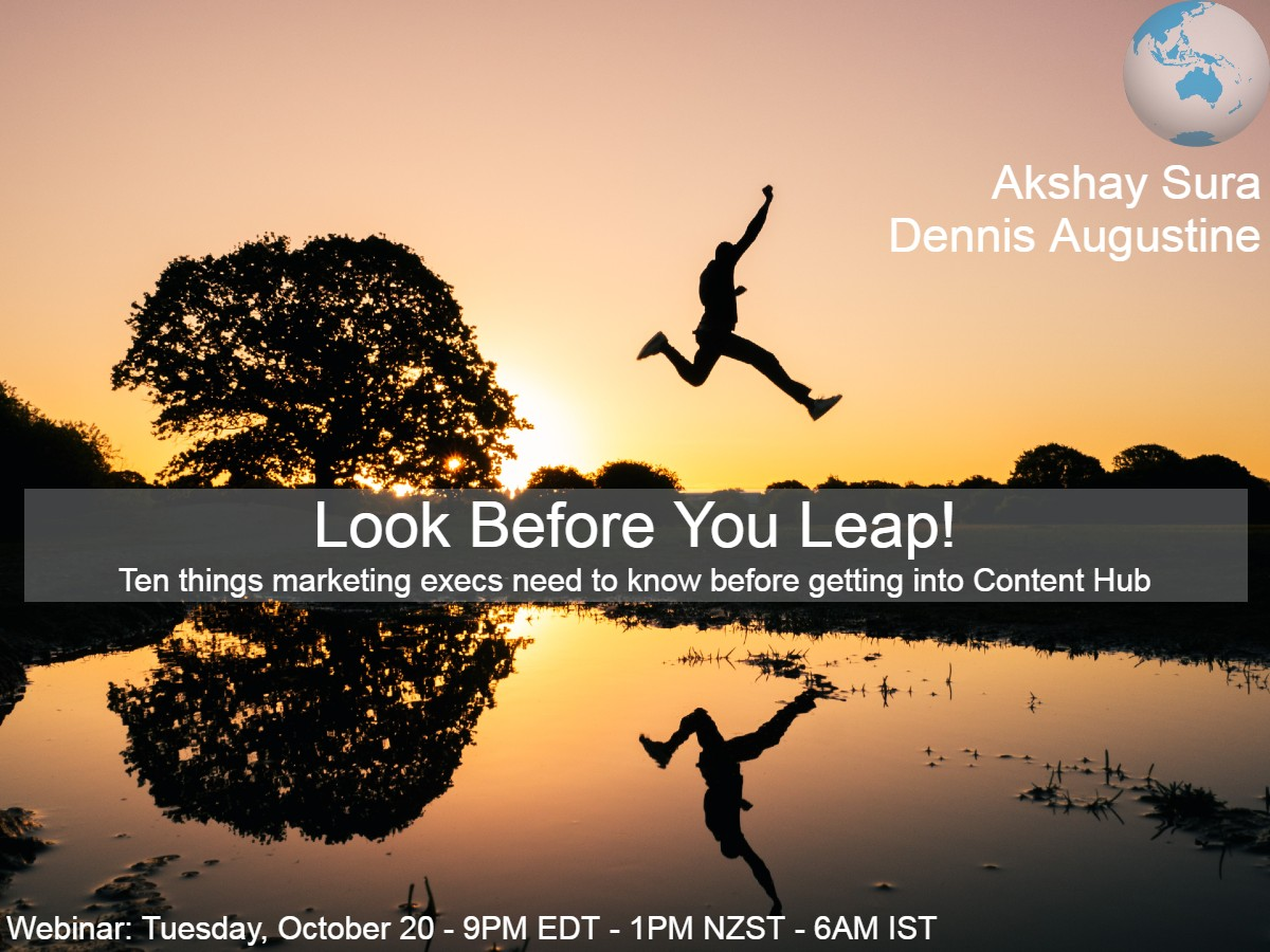 Look Before You Leap! - Asia Pacific Region - Webinar