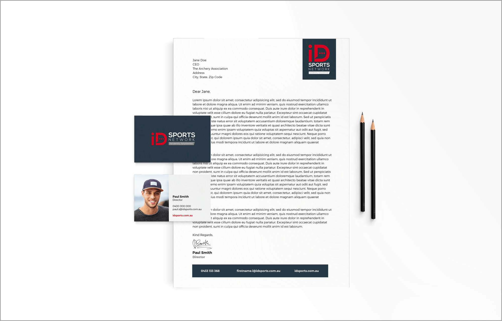 iD Sports Stationery Mockup
