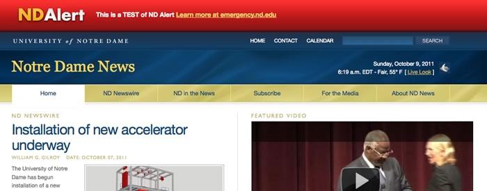 newsinfo.nd.edu in Emergency mode