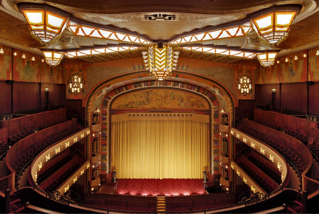 inside plush movie theater