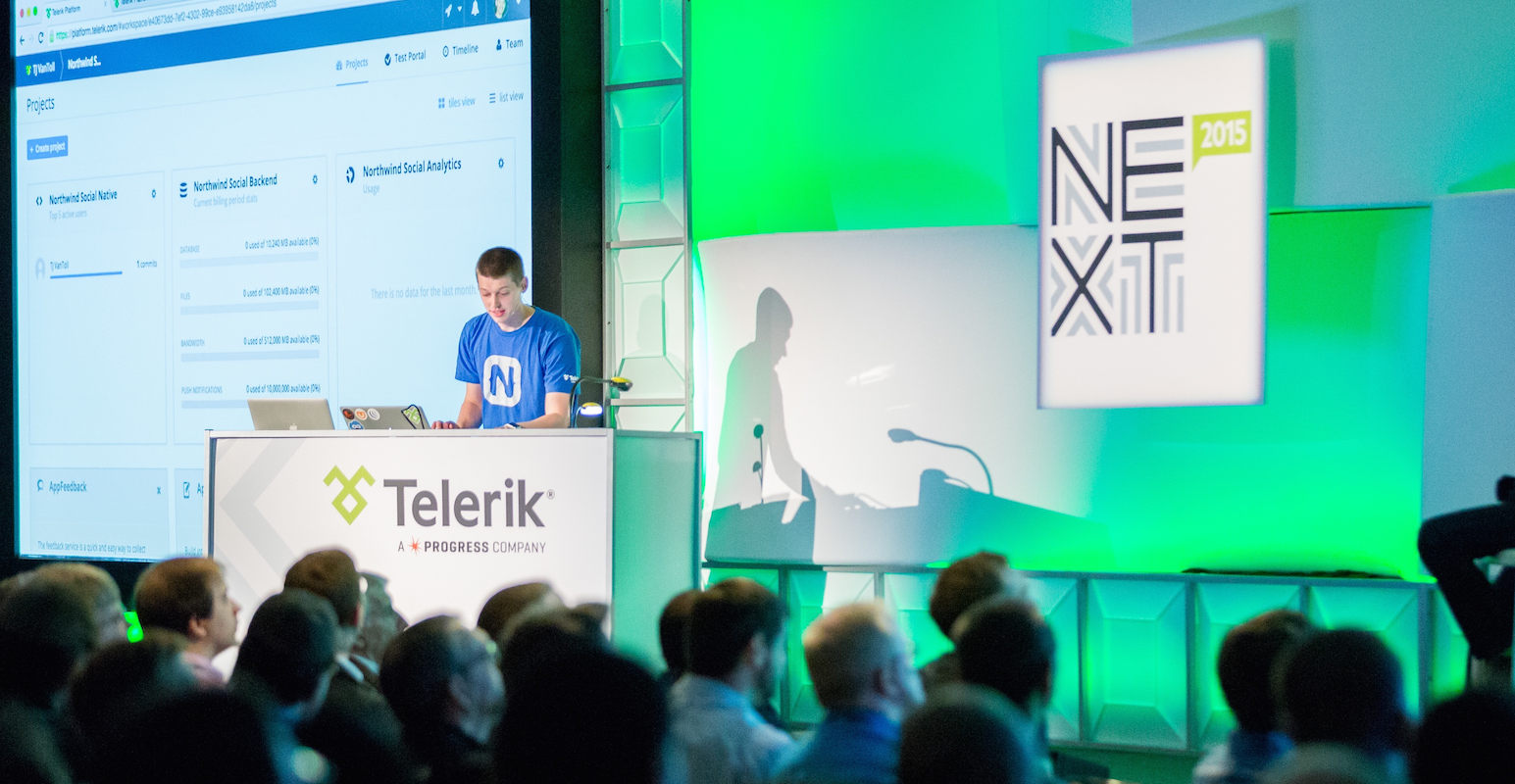 Me on stage at TelerikNEXT