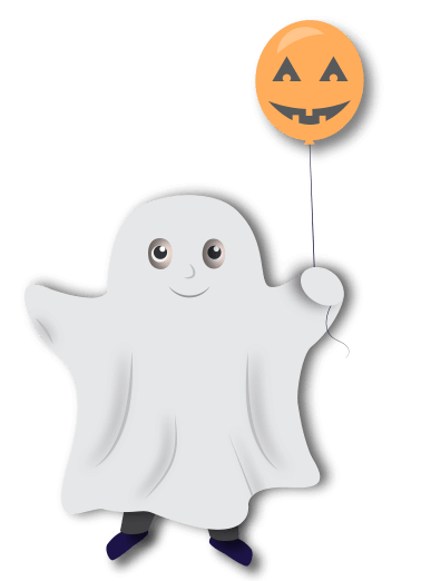 kid in ghost outfit
