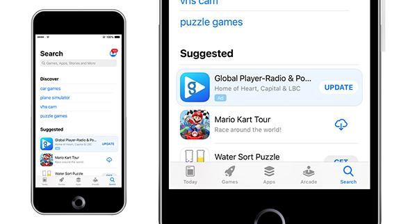 Mobile Phone image displaying Ad
