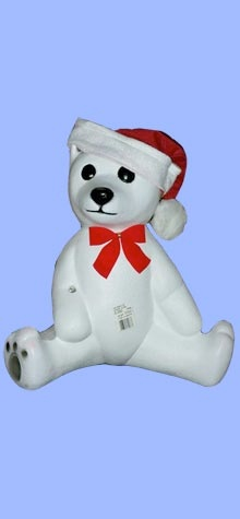 White Bear With Cane And Hat photo