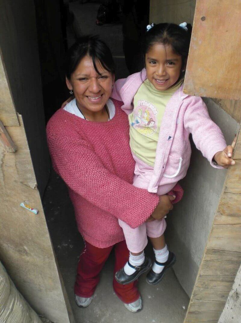 Aracely en haar moeder