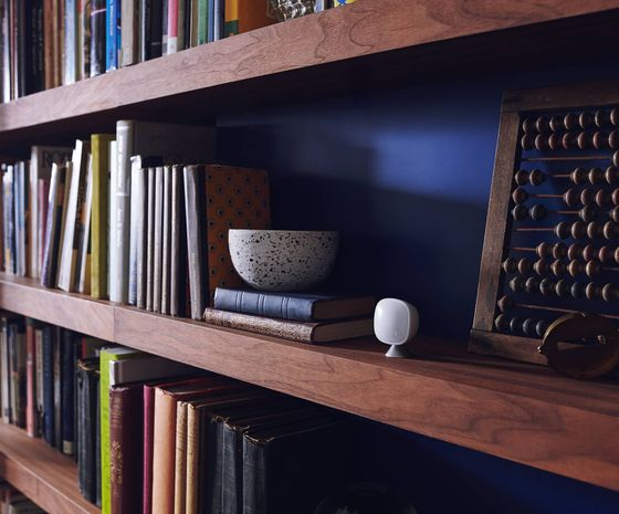 The all-new SmartSensor sitting on bookshelf