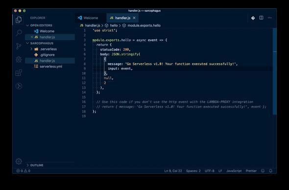 Serverless Framework - Project Setup