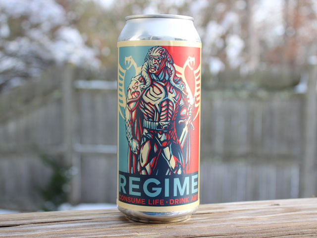 Regime (Ghost 916), a Hazy Triple IPA brewed by Adroit Theory Brewing Company