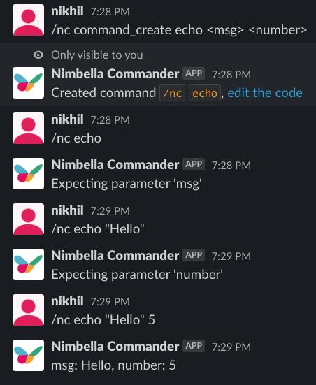 serverless Slack command