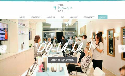 Blowout Bar website screenshot