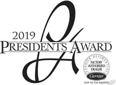 2019 Carrier Presidents Award Winner