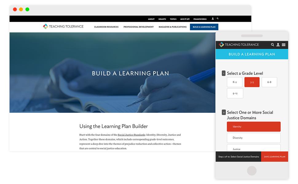 Image: Learning Plan Builder landing page