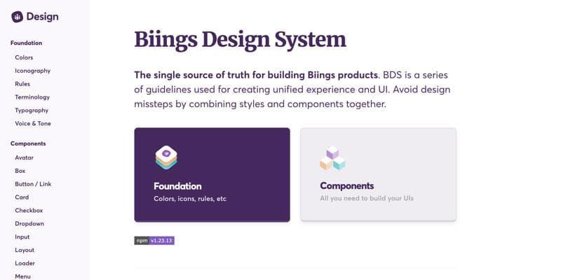 Biings Design System
