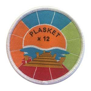 Plasket x 12 spejdermærke