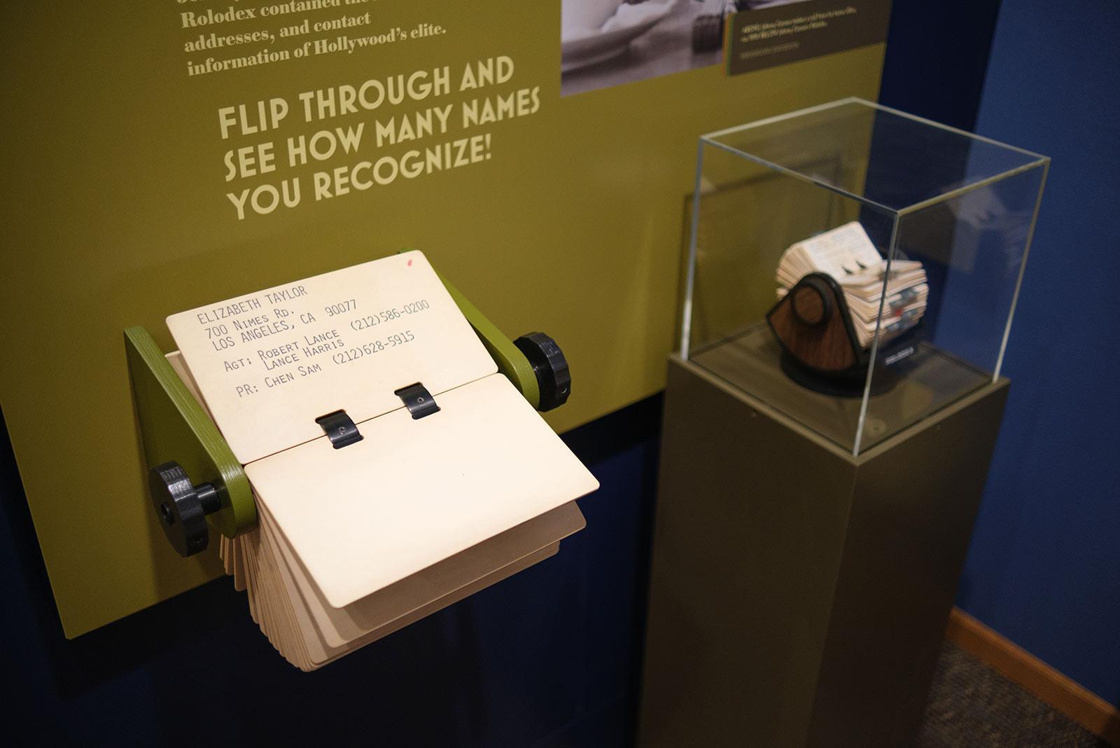 Johnny Carson museum exhibit rolodex interactive