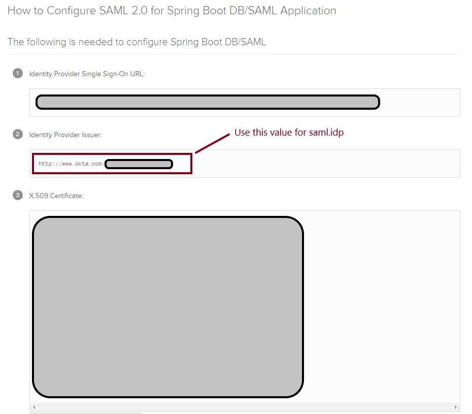 Copy the URL for Identity Provider metadata