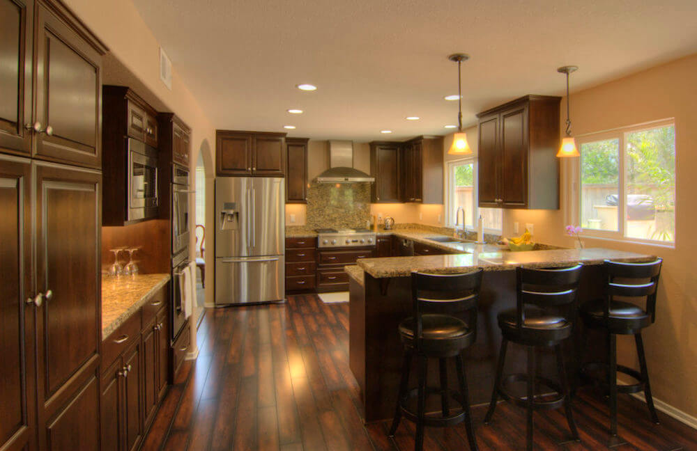 image of custom kitchen remodel in Poway