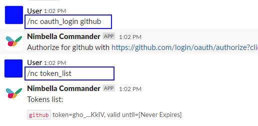 Show current OAuth access token