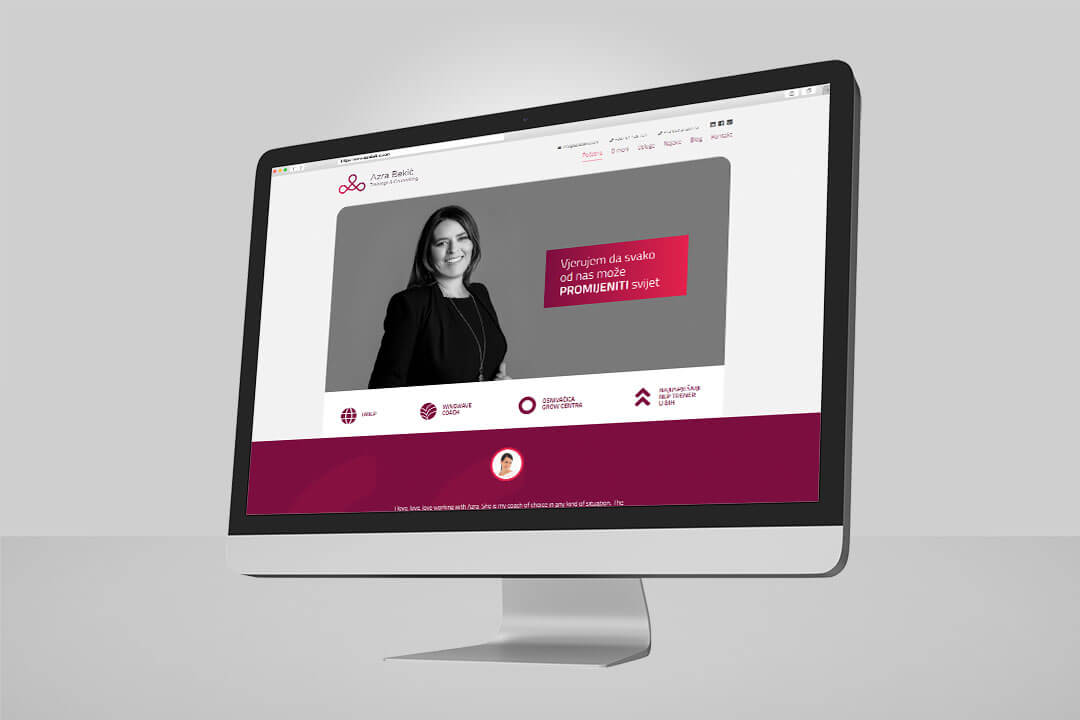 Project Azra Bekić, Website Design